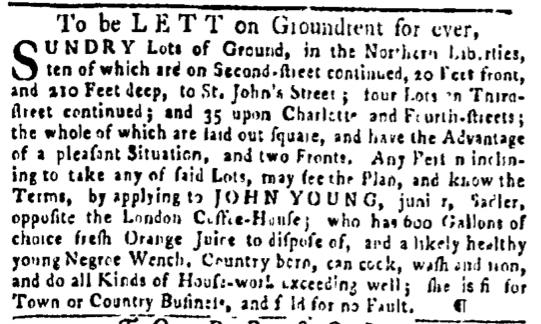 May 19 - Pennsylvania Gazette Slavery 1