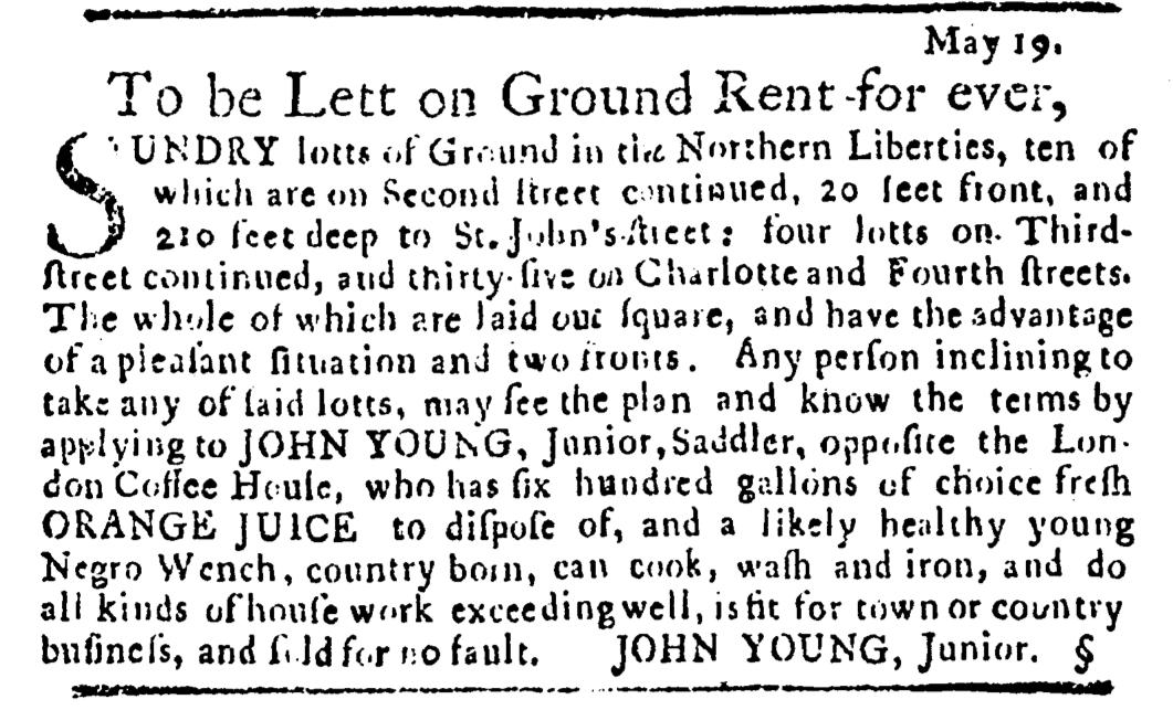 May 19 - Pennsylvania Journal Slavery 1