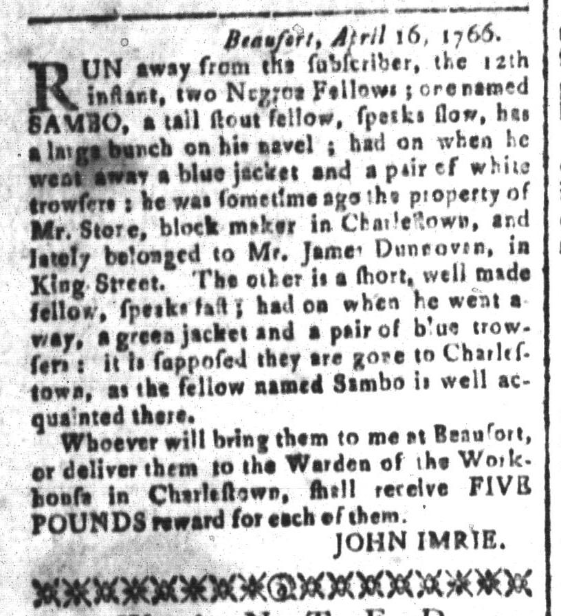 May 20 - South-Carolina and American General Gazette Slavery 4