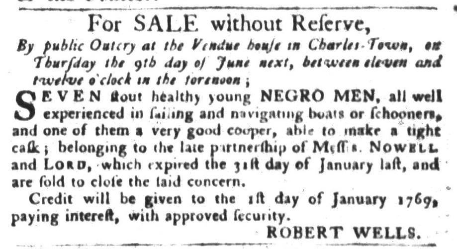 May 24 - South-Carolina Gazette and Country Journal Slavery 3
