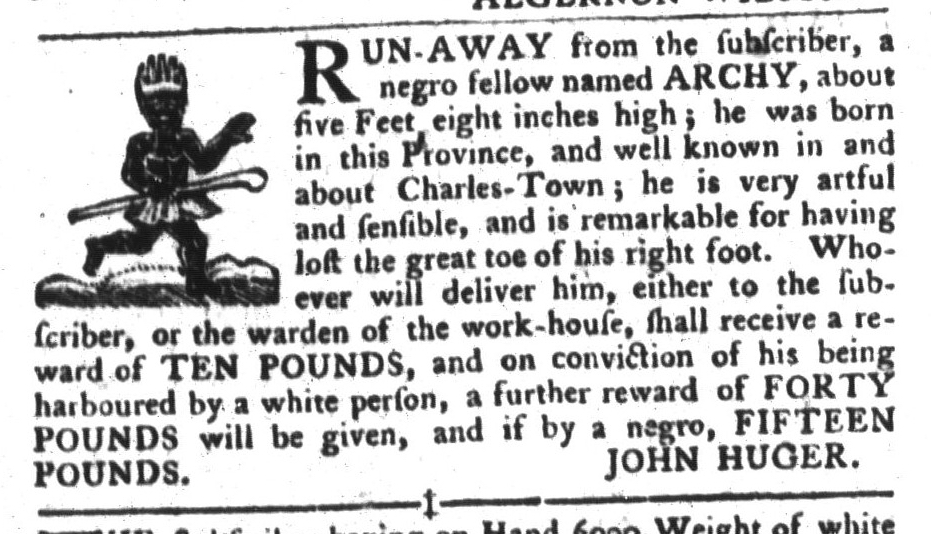 May 24 - South-Carolina Gazette and Country Journal Slavery 5