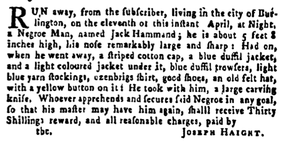 May 26 - Pennsylvania Gazette Supplement Slavery 1