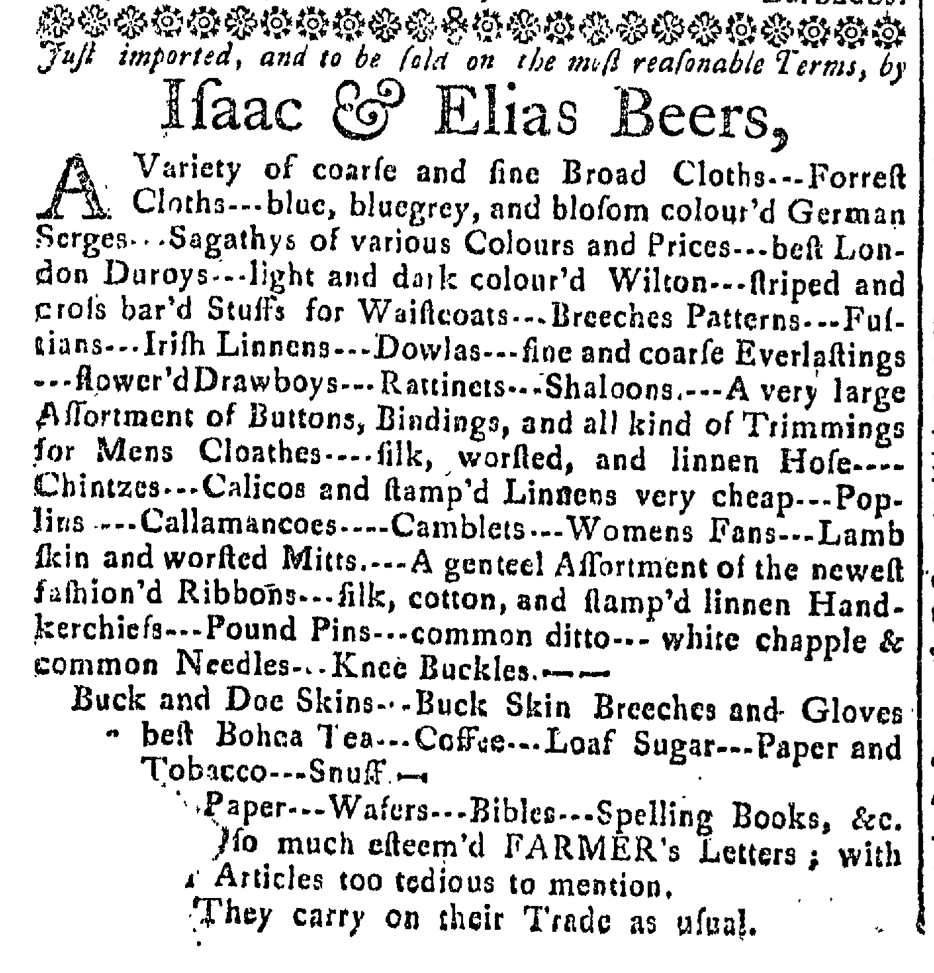 May 27 - 5:27:1768 Connecticut Journal