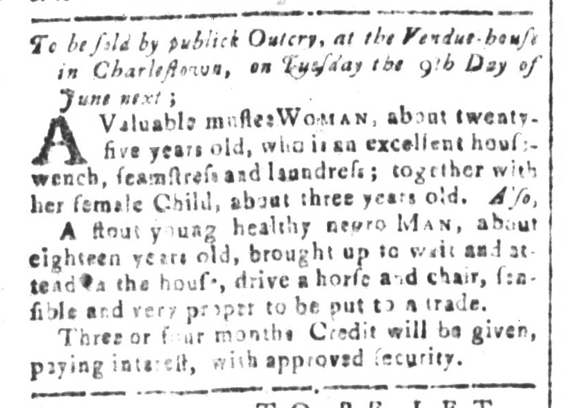 May 27 - South-Carolina and American General Gazette Slavery 1