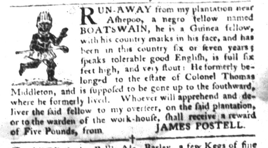 May 31 - South-Carolina Gazette and Country Journal Slavery 3