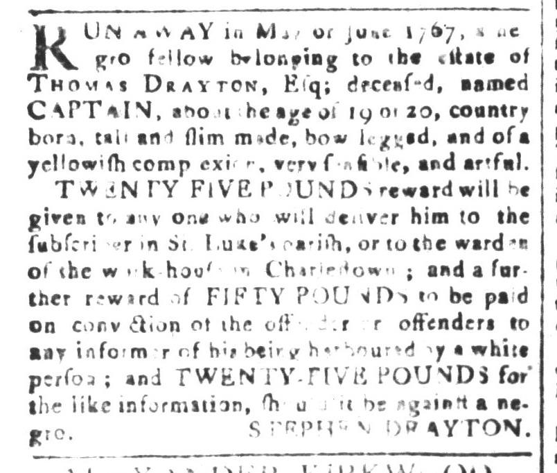 May 6 - South-Carolina and American General Gazette Slavery 1