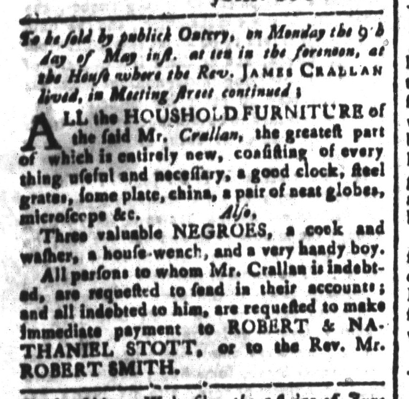 May 6 - South-Carolina and American General Gazette Slavery 3