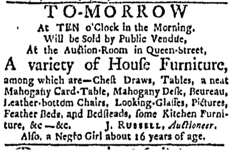 May 9 - Boston Evening-Post Slavery 1