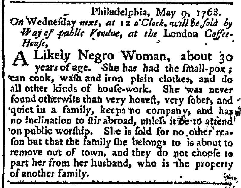 May 9 - Pennsylvania Chronicle Slavery 3