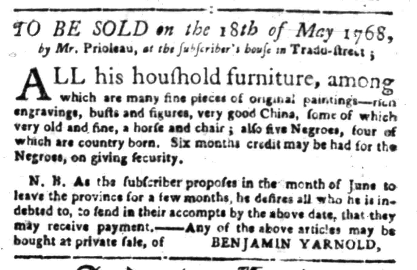 May 9 - South-Carolina Gazette Supplement Slavery 5