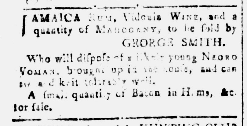 Jul 1 - South Carolina and American General Gazette Slavery 1