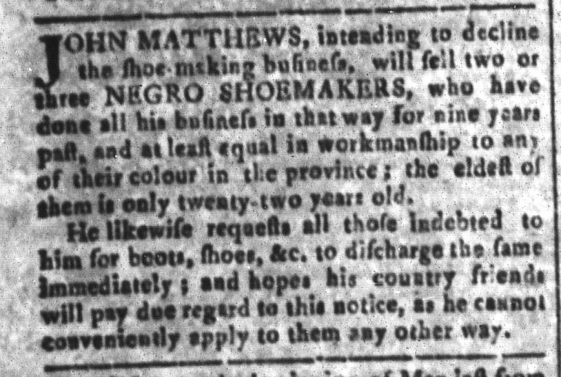 Jul 1 - South Carolina and American General Gazette Slavery 10