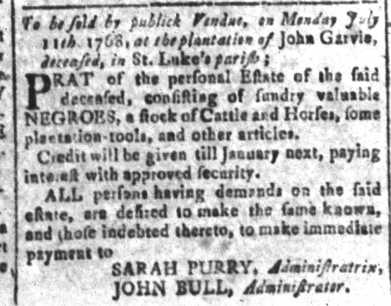 Jul 1 - South Carolina and American General Gazette Slavery 13
