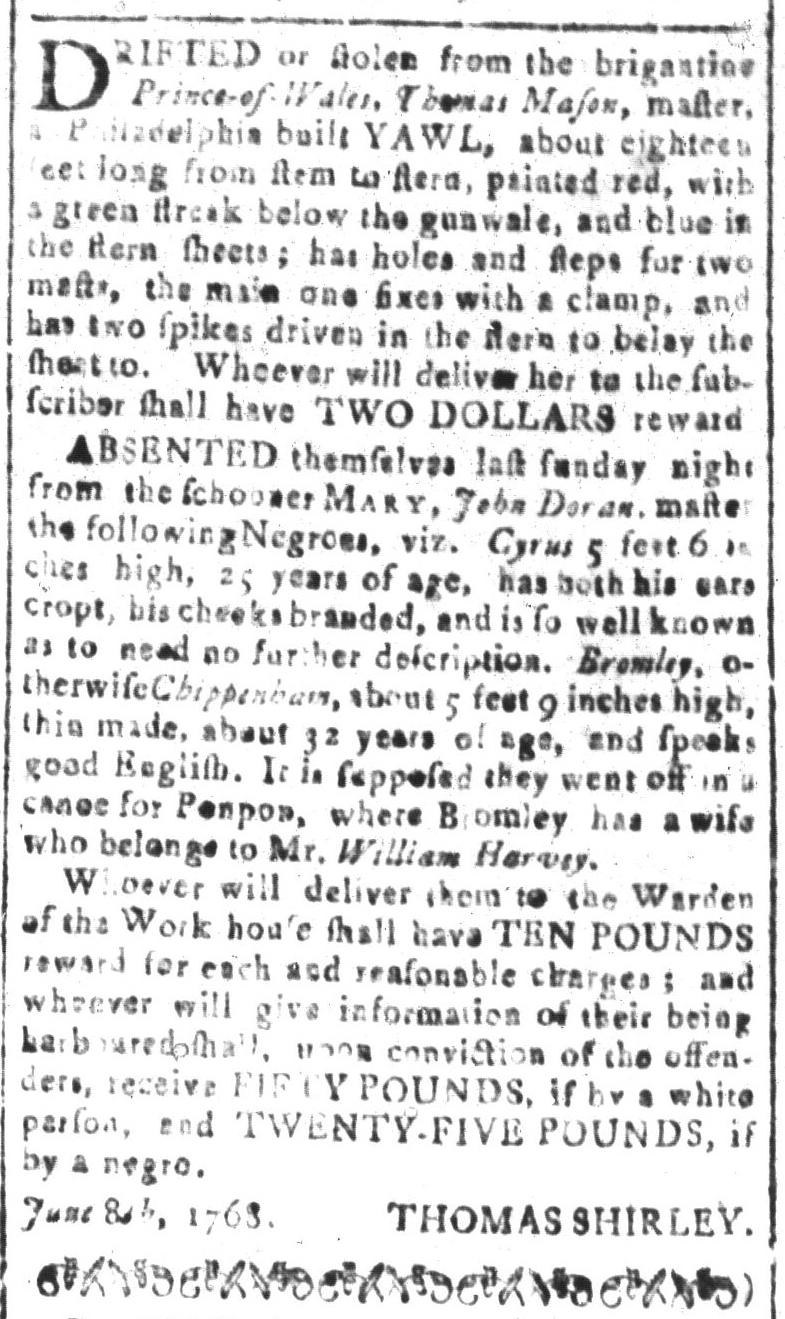 Jul 1 - South Carolina and American General Gazette Slavery 8