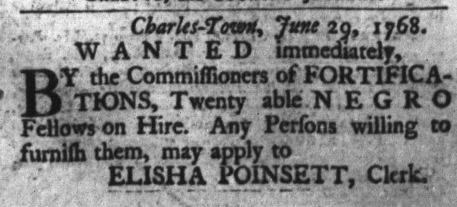 Jul 12 - South-Carolina Gazette and Country Journal Slavery 1