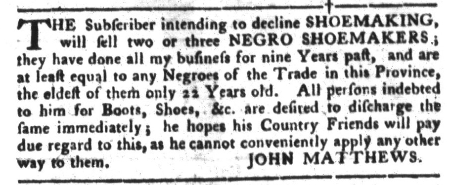 Jul 12 - South-Carolina Gazette and Country Journal Slavery 3