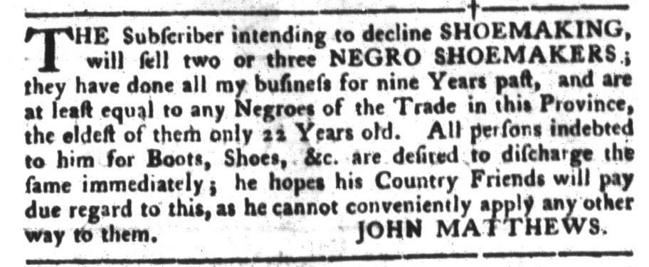 Jul 12 - South-Carolina Gazette and Country Journal Slavery 3