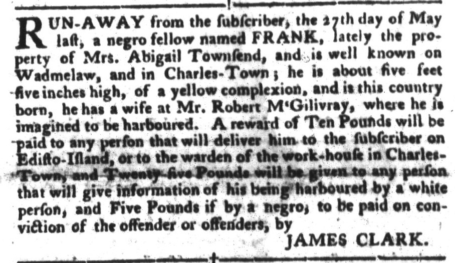 Jul 12 - South-Carolina Gazette and Country Journal Slavery 4