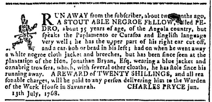 Jul 13 - Georgia Gazette Slavery 1