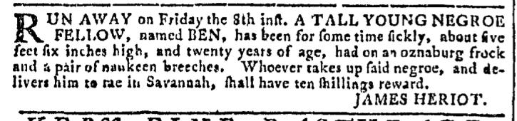 Jul 13 - Georgia Gazette Slavery 4