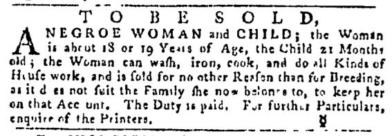 Jul 14 - Pennsylvania Gazette Slavery 1
