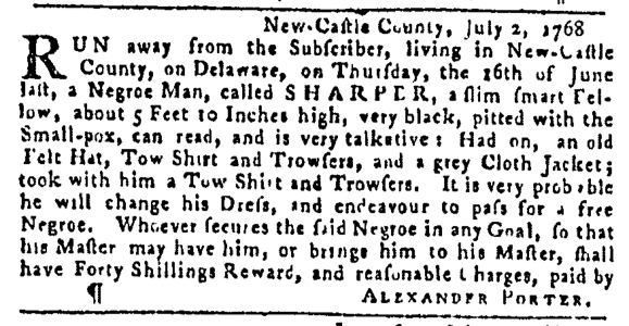 Jul 14 - Pennsylvania Gazette Slavery 2