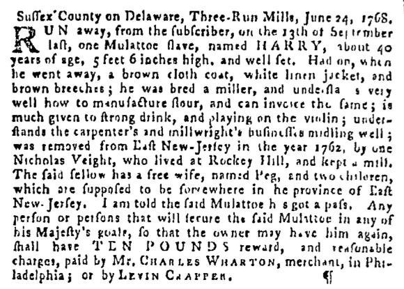 Jul 14 - Pennsylvania Gazette Slavery 4