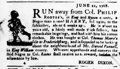 Jul 14 - Virginia Gazette Purdie and Dixon Slavery 2