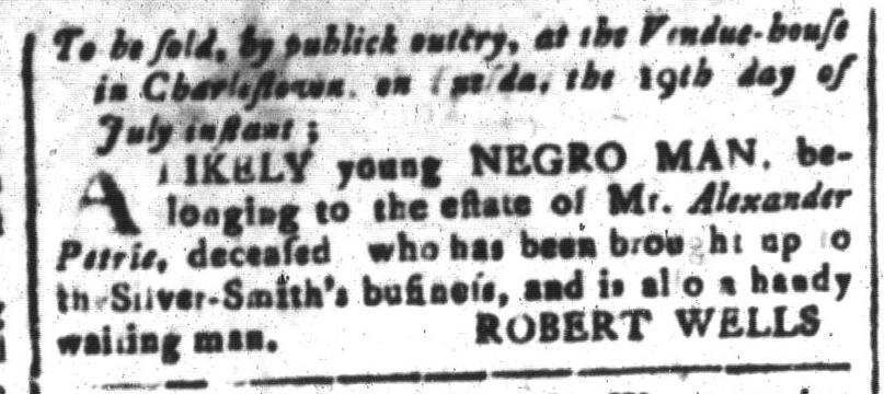 Jul 15 - South Carolina and American General Gazette Slavery 12