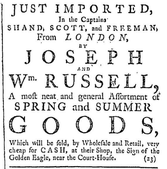 Jul 2 - 7:2:1768 Providence Gazette