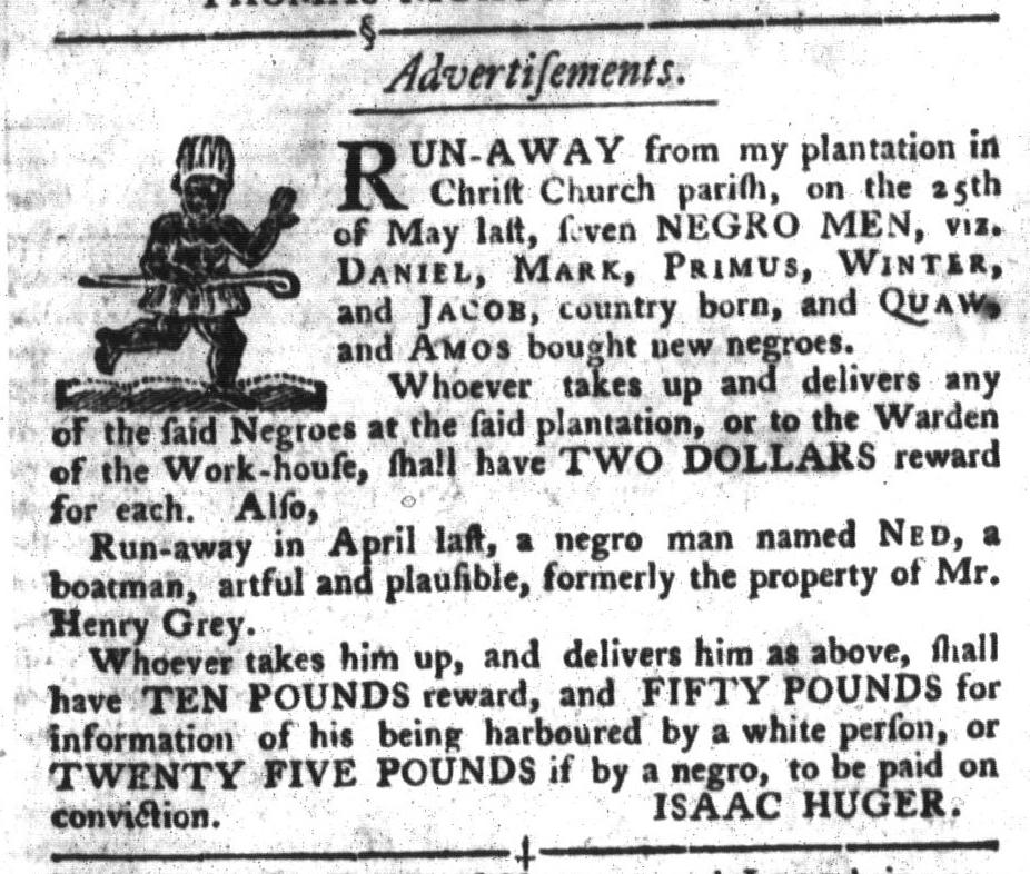 Jul 5 - South-Carolina Gazette and Country Journal Slavery 7