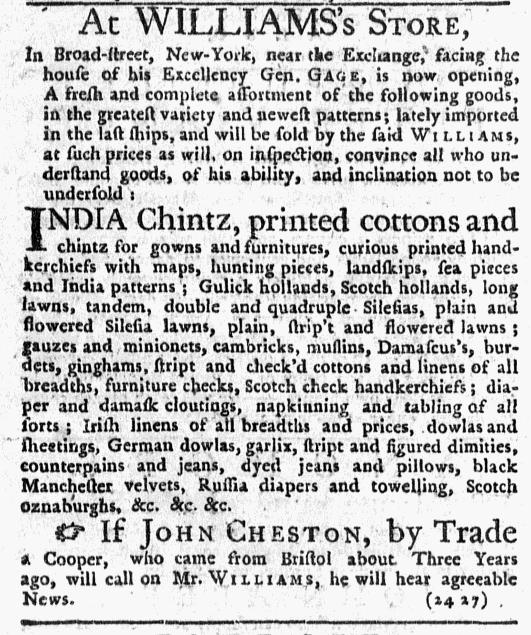 Jul 7 - 7:7:1768 New-York Journal Supplement