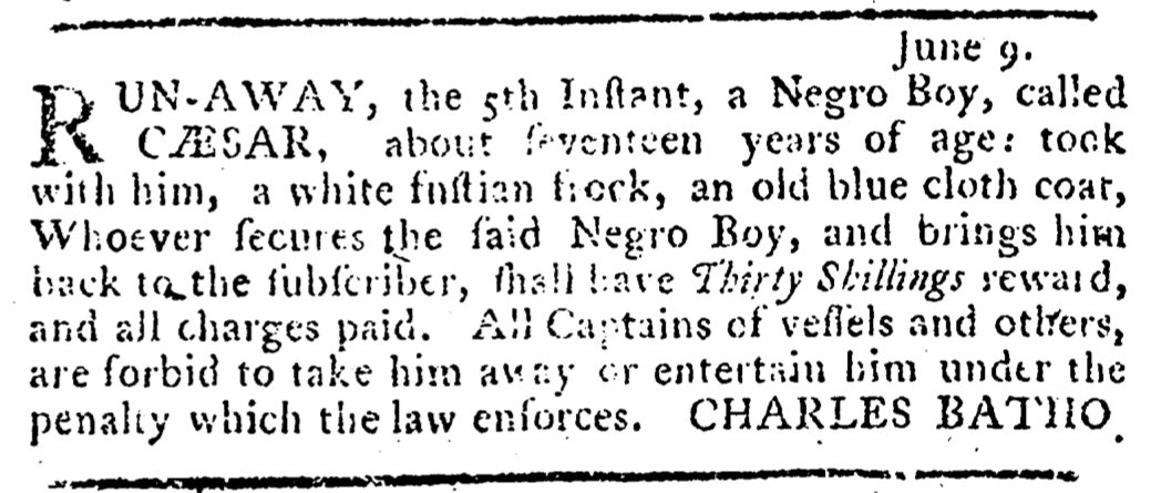Jul 7 - Pennsylvania Journal Supplement Slavery 1