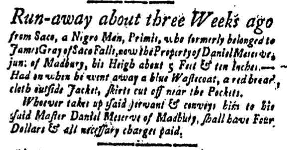 Jun 10 - New-Hampshire Gazette Slavery 1
