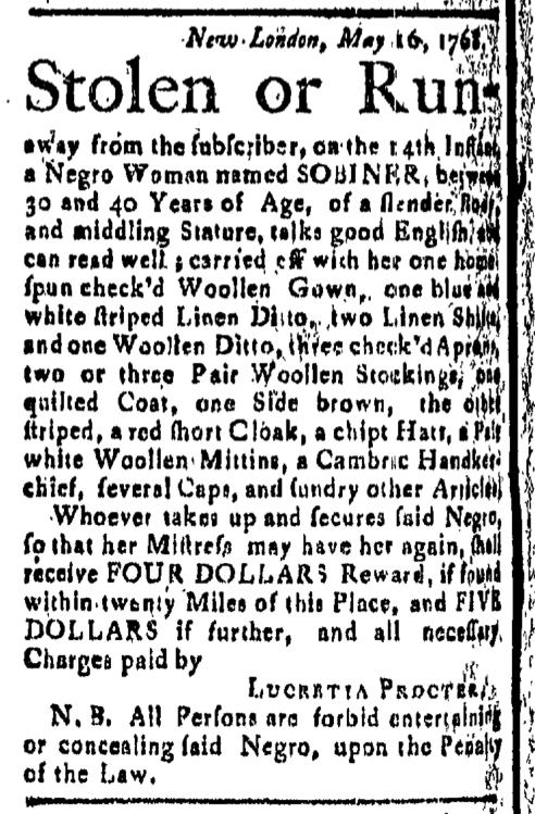 Jun 10 - New-London Gazette Slavery 1