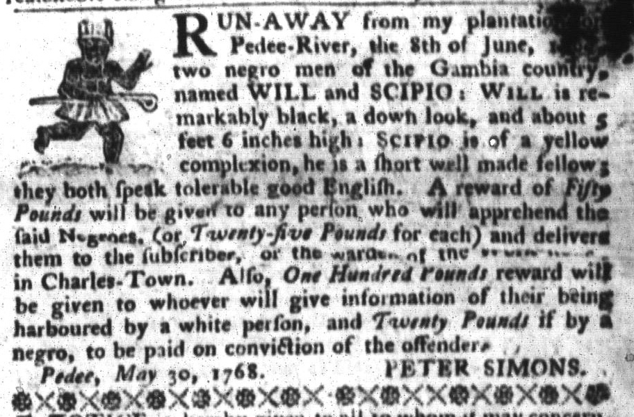 Jun 14 - South-Carolina Gazette and Country Journal Slavery 7