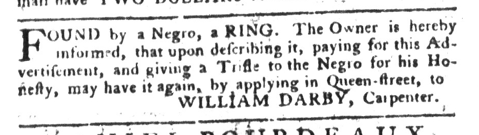 Jun 14 - South-Carolina Gazette and Country Journal Slavery 9