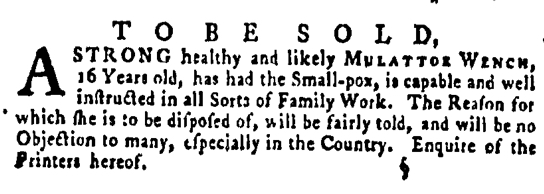 Jun 16 - Pennsylvania Gazette Supplement Slavery 1