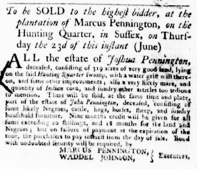 Jun 16 - Virginia Gazette Purdie and Dixon Slavery 4