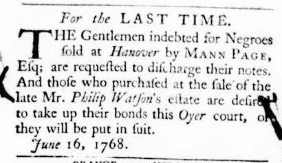 Jun 16 - Virginia Gazette Purdie and Dixon Slavery 5