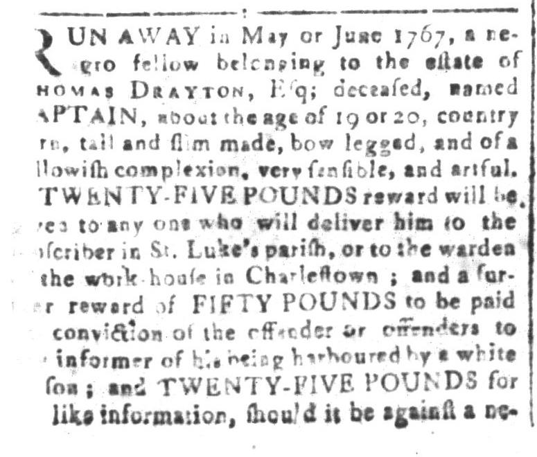 Jun 17 - South-Carolina and American General Gazette Slavery 2