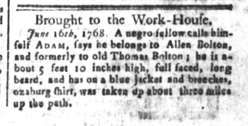 Jun 17 - South-Carolina and American General Gazette Slavery 3