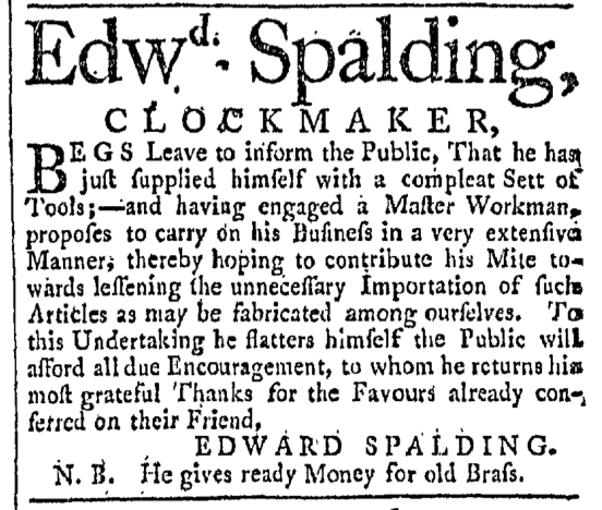 Jun 18 - 6:18:1768 Providence Gazette