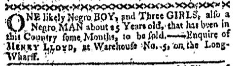 Jun 20 - Boston-Gazette Slavery 1