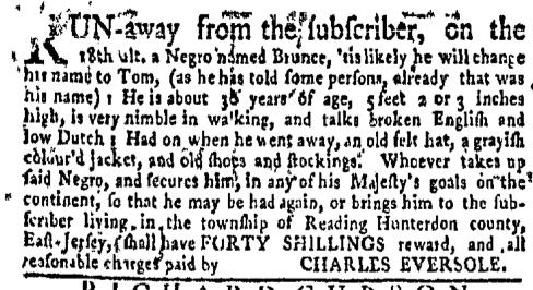 Jun 20 - New-York Gazette Weekly Mercury Supplement Slavery 2