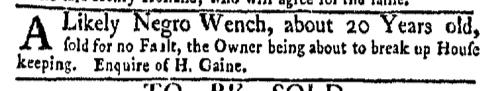 Jun 20 - New-York Gazette Weekly Mercury Supplement Slavery 4