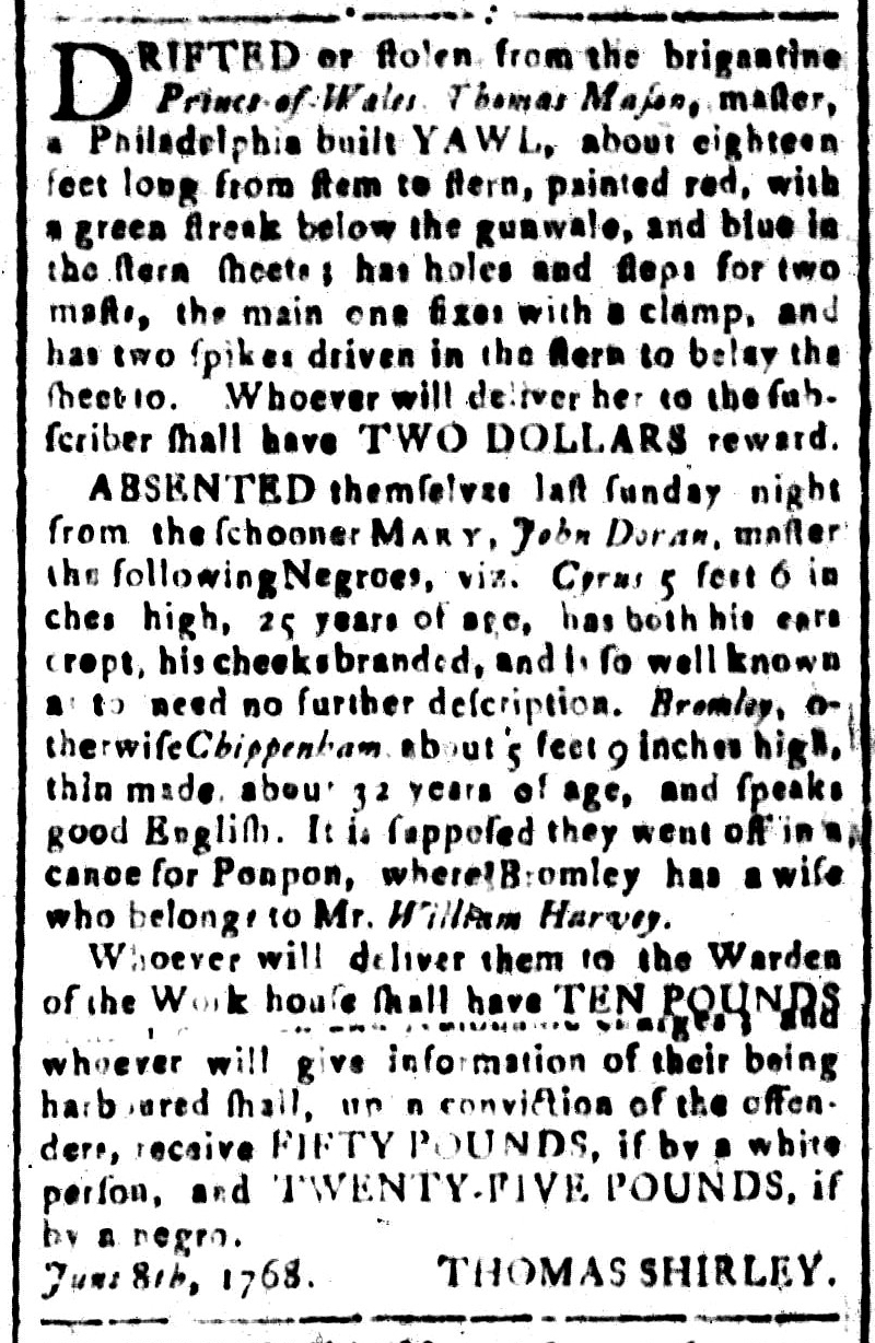 Jun 24 - South-Carolina and American General Gazette Slavery 10
