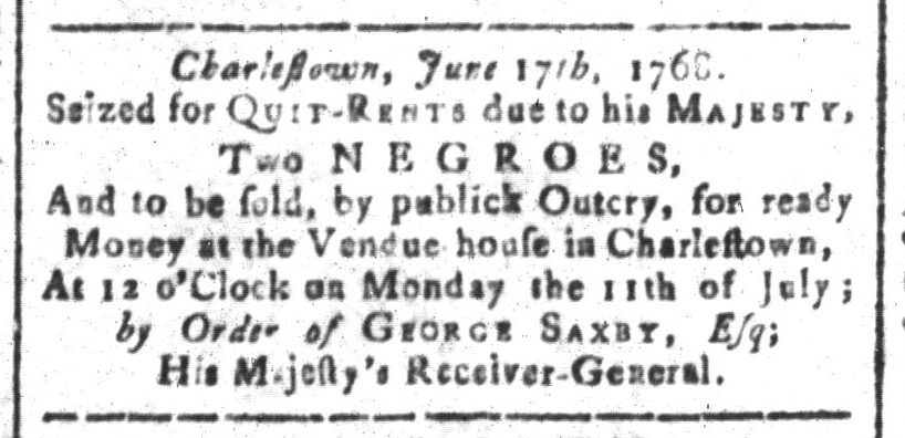 Jun 24 - South-Carolina and American General Gazette Slavery 13