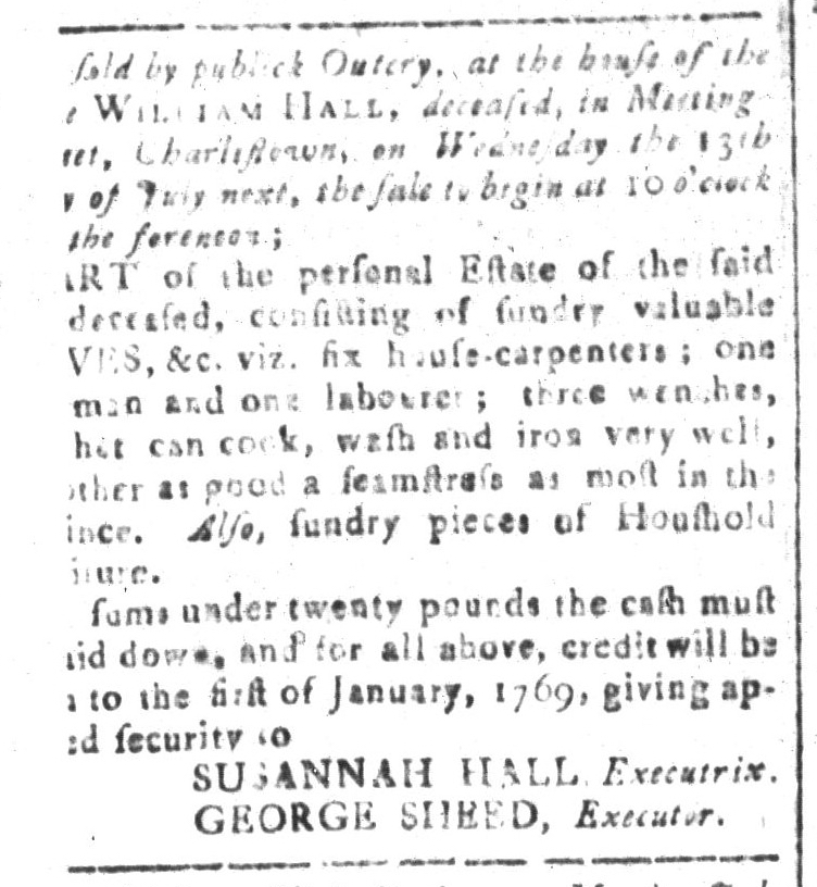 Jun 24 - South-Carolina and American General Gazette Slavery 2