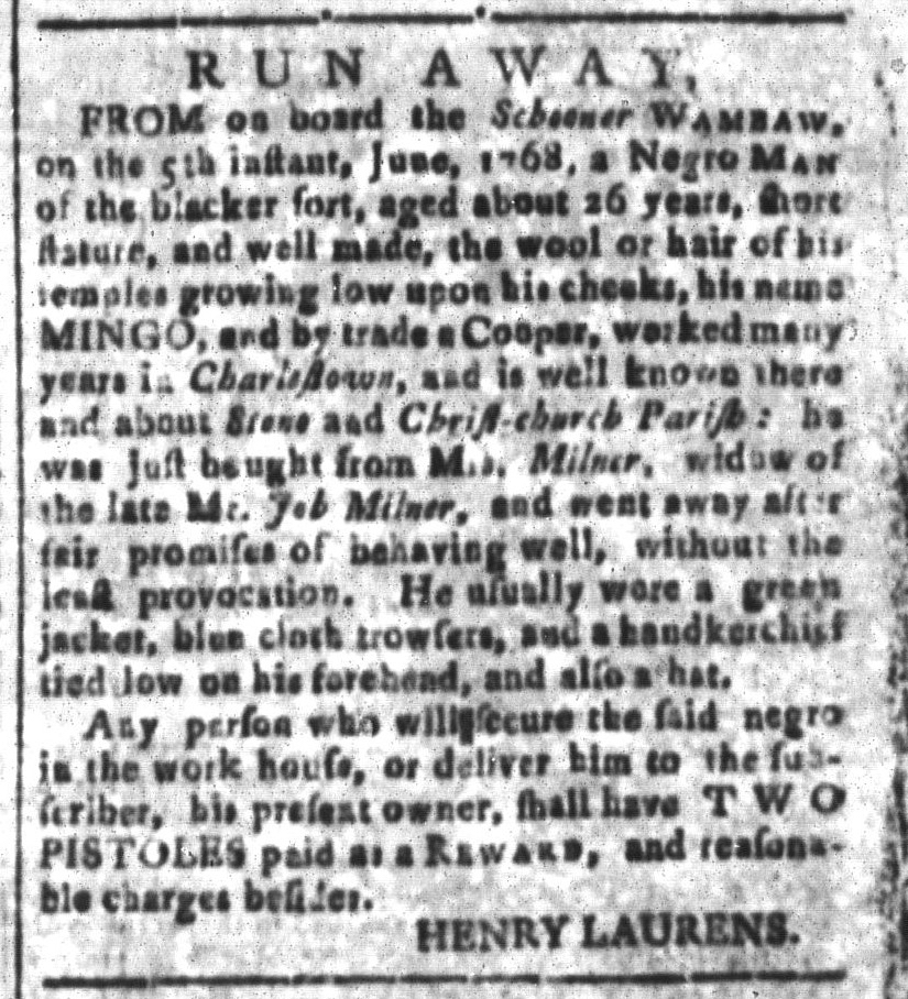Jun 24 - South-Carolina and American General Gazette Slavery 6